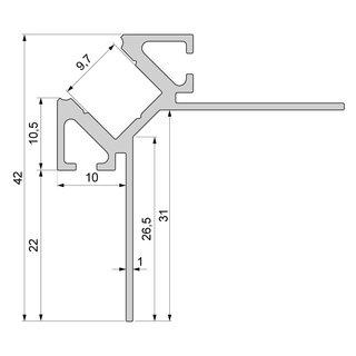 b derschau lichtshop fliesen profil ecke au en 1 25m online kaufen. Black Bedroom Furniture Sets. Home Design Ideas